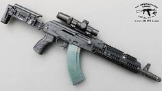Modern AK. AKM with Zenitco stock, upper and lower handguard, polish V Project magazine, modular pistol grip and a scope. I love AKs