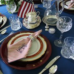 Use your silver! Wallace Silversmiths Sir Christopher flatware, Limoge china, sterling silver napkin rings, sterling silver sugar and creamer, monogrammed napkins