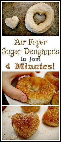 Air Fryer Sugar Doughnut An Awesome Air Fryer Sugar Doughnut Recipe!An Awesome Air Fryer Sugar Doughnut Recipe! Air Fryer Doughnut Recipe, Sugar Doughnut Recipe, Donut Recipes, Dessert Recipes, Cooking Recipes, Cooking Tips, Cooking Food, Healthy Recipes, Cheap Recipes