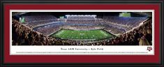 Texas A&M Aggies Football Panorama - Kyle Field Picture - Deluxe Frame $199.95