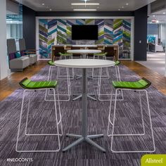 Allsteel NeoCon15 Showroom featuring Take 5 Stool. We love having this stool in our office!!!