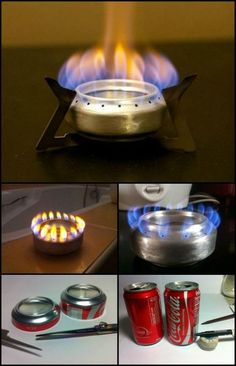 How to Make Your Own Pop Can Alcohol From Recycled Soda Can  http://diyprojects.ideas2live4.com/2014/12/19/diy-pop-can-alcohol-stove/  Just another example of ingenuity! This is so small and easy to put in your backpack that you need never be without that hot meal or drink again!
