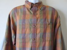 Men's The Territory Ahead Brown Gold Color Casual Shirt Long Sleeve Size Extra Large