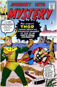 Cover by Jack Kirby. Thor drawn by Joe Sinnott. Two back up stories, one drawn by Larry Lieber and one by Steve Ditko. Marvel chipping, heavy spine and edge wear. Cover and centerfold attached. Pages have standard age tanning. Marvel Comics, Marvel Comic Books, Comic Books Art, Comic Art, Book Art, Comic Books For Sale, Thor Marvel, Vintage Comic Books, Vintage Comics