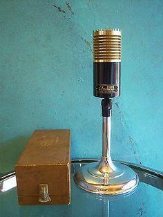 Vintage RARE 1950's American DR-332 dynamic cardioid & ribbon microphone w box