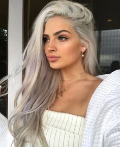 Best tape in human hair extensions, clip in human hair extensions, pre bonded hair extensions on sale. High quality pure human hair extension at lower price. Grey Hair Wig, Brown Blonde Hair, Pink Hair, White Blonde, Blonde Brunette, Hair Dye, White Hair, Hair Color Dark, Cool Hair Color