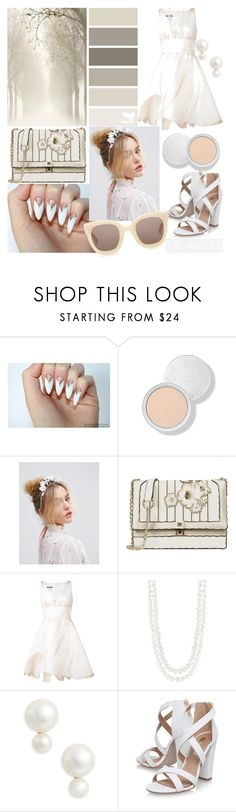 """10. White"" by tanyaq ❤ liked on Polyvore featuring ASOS, Moschino, Masako, Kate Spade, Miss KG and Gucci"
