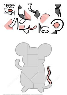Jigsaw Puzzle with Funny Mouse Puzzle games Printable Puzzles For Kids, Jigsaw Puzzles For Kids, Puzzle Games For Kids, Maths Puzzles, Math For Kids, Worksheets For Kids, Crafts For Kids, Preschool Learning Activities, Kids Learning