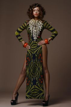"""This fabric is! And is giving us repost from """"Fashion Week/Editorials: Africa Fashion Week London 2015 Campaign Photos and Press Release ( The Face: Dress: African Inspired Fashion, African Print Fashion, Africa Fashion, Fashion Prints, African Attire, African Wear, African Women, African Style, African Print Dresses"""