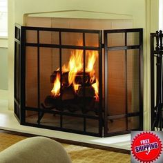 Buy Now This Item:http://www.ebay.com/itm/-/332088779590?ssPageName=STRK:MESE:IT #Fireplace_Screen_Iron #Fire_Protection #Heater_Cover #Wood_Burning #Guard #Home_Decor #FireplaceScreen