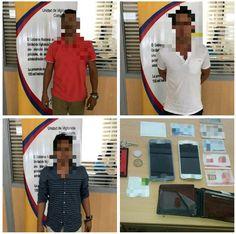 Chone: Tres detenidos por presunta tenencia de arma de fuego y estupefacientes