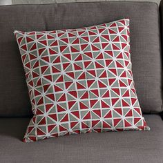 HAND-BLOCKED COTTON HARLEQUIN PILLOW COVER from West Elm  $19.00