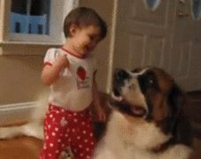 The day this baby learned that you can hug dogs. | The 33 Most Joyful Things That Ever Happened