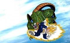 Dragon Ball Z Vegeta vs Cell Wallpaper