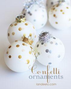 Confetti Painted Ornaments