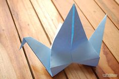 Light Blue Flapping Bird Origami