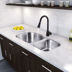 Elegant Vigo 31 Inch Undermount Double Bowl 18 Gauge Stainless Steel Kitchen Sink  With Aylesbury Antique Rubbed Bronze Faucet, Two Grids And Two Stra.