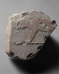 Relief fragment with two young dogs, ca. 2400-2323 B.C. Egyptian. The Metropolitan Museum of Art, New York. Rogers Fund, 1909 (09.180.134)