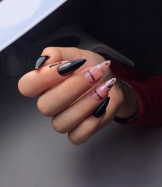 Image about stiletto nail art in Nails / Rings / Earrings by AtaDeniz✅ Uploaded by AtaDeniz✅. Find images and videos about stiletto nail art on We Heart It – the app to get lost in what you love. Manicure Nail Designs, Nail Manicure, Stiletto Nail Art, Simple Stiletto Nails, Fall Acrylic Nails, Glitter Nails, Nail Ring, Bright Nails, Fire Nails