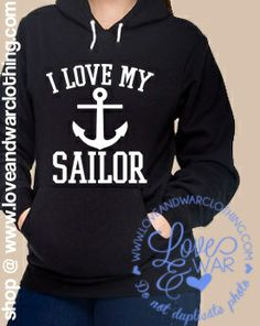 I love my Sailor large emblem black hoodie