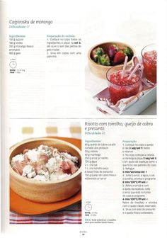 Revista bimby 14 Pampered Chef, Kitchen Robot, Smoothie Drinks, Betty Crocker, Food Inspiration, Risotto, Oatmeal, Food And Drink, Veggies