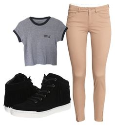"""""""Back to school"""" by crystal7700 on Polyvore featuring H&M and Steve Madden"""