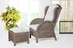 Zurücklehnen, relaxen und entspannen im zeitlosen Basket Chair: Dieser Rattan Sessel macht dein Zuhause so richtig gemütlich!