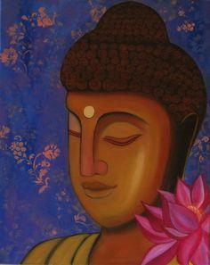 Original Zen Buddha Spiritual PaintingBuddha wall by ArtbyRangrez