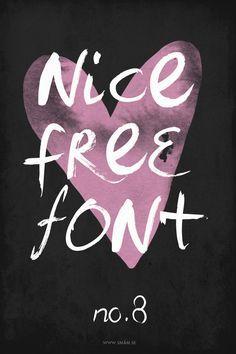 Free font no. 8 | SM
