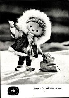 Ansichtskarte / Postkarte Unser Sandmännchen, Sandmann, DDR Kinderfernsehen, Winterkleidung
