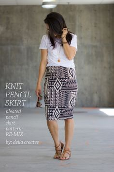 DIY: knit pencil skirt