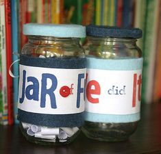 Jar of Fun - Inside are 100 simple and little-to-no-prep activities that they can do together.