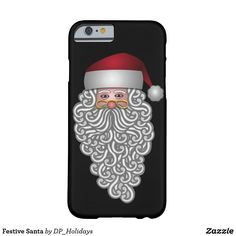 Festive Santa Barely There iPhone 6 Case - Deck out your smart phone for the Holidays with this festive Santa case design. Sold at DP_Holidays on Zazzle.