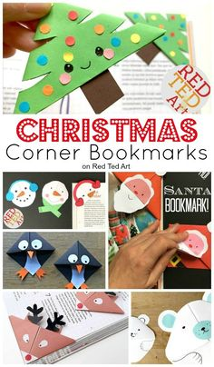 "Paper Christmas Bookmark Ideas - check out these fabulous Christmas Bookmarks - they make a fun classroom craft, as well as small gift to friends and family. Choose from Christmas Corner Bookmarks or ""ordinary"" Christmas Bookmark Designs. Love them all."