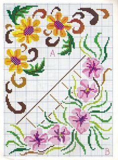123 Cross Stitch, Simple Cross Stitch, Cross Stitch Borders, Counted Cross Stitch Patterns, Cross Stitch Designs, Beaded Embroidery, Cross Stitch Embroidery, Embroidery Patterns, Butterfly Cross Stitch