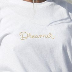 She's a dreamer, a doer, a thinker. She sees possibility everywhere. ⚡️ | Hand lettering | Sofia Dezaki | #clothing #streetwear