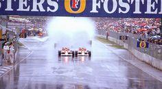 1989 Australian Grand Prix.Adelaide, Australia.3-5 November 1989.Ayrton Senna and Alain Prost (Both McLaren MP4/5 Honda's