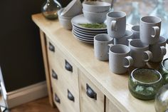 Our showrooms don't just display furniture - visit Matlock, Harrogate and our new store at Tunbridge Wells to discover a stunning selection of handcrafted crockery and homewares. Find out more» http://www.indigofurniture.co.uk/about-us/tunbridge-wells-furniture-shop  #pottery #cups #mugs #plates #kitchen #ceramics #glass #wood #drawers #furniture #oak #indigofurniture #home