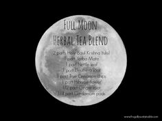 Nourishing Plant Infusions :: Full Moon Herbal Tea Blend Recipe (and A Little Bit About Candlemas~Imbolc)