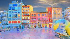 A la plaza de la Constitución de Málaga le salen los colores