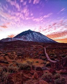 Nature is almost too beautiful to believe sometimes...Especially in this scene of Mount Teide in Tenerife, Canary Islands. Tap this pin to check out our Instagram account for more inspirational travel photography.