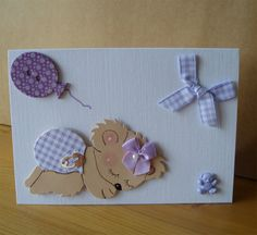 New Lilac Balloon Baby Card by Aunty Joan Crafts on Etsy