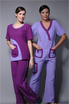 Ref. Alba Uniformes para el sector de la salud Spa Uniform, Uniform Clothes, Scrubs Uniform, Scrubs Pattern, Stylish Scrubs, Medical Scrubs, Nursing Scrubs, Beautiful Nurse, Cute Scrubs
