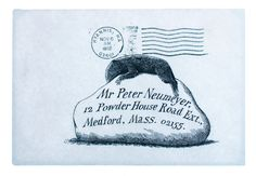 When artist Edward Gorey sent mail to friends, he would address the envelope in a rather distinctive way.