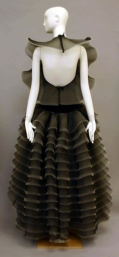Evening dress Pierre Cardin (French, born San Biagio di Callalta, Italy, 1922) Date: 1984 Culture: French Medium: horsehair, synthetic. Back