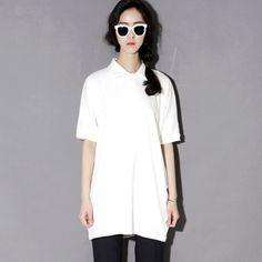 Today's Hot Pick :ポロシャツ風ロング丈カジュアル半袖Tシャツ【BLUEPOPS】 http://fashionstylep.com/P0000VHS/ju021026/out