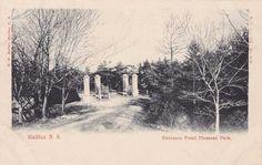 Entrance to Point Pleasant Park - Halifax, Nova Scotia, Canada - Divided Back