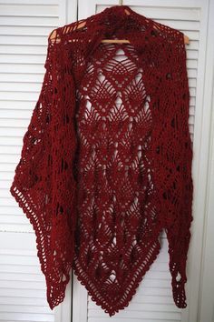 Red Shawl - Knit lace shawl - Handmade knit Wrap - shawl Knit - wrap Knit - Knit red scarf - knit poncho - Wedding shawl - Bridal shawl