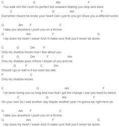Austin Mahone Shadow Chords Capo 2