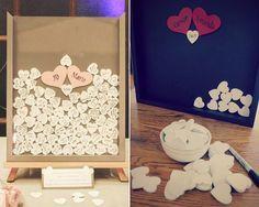 Idea original para el libro de firmas de tu boda #bodas #ideas